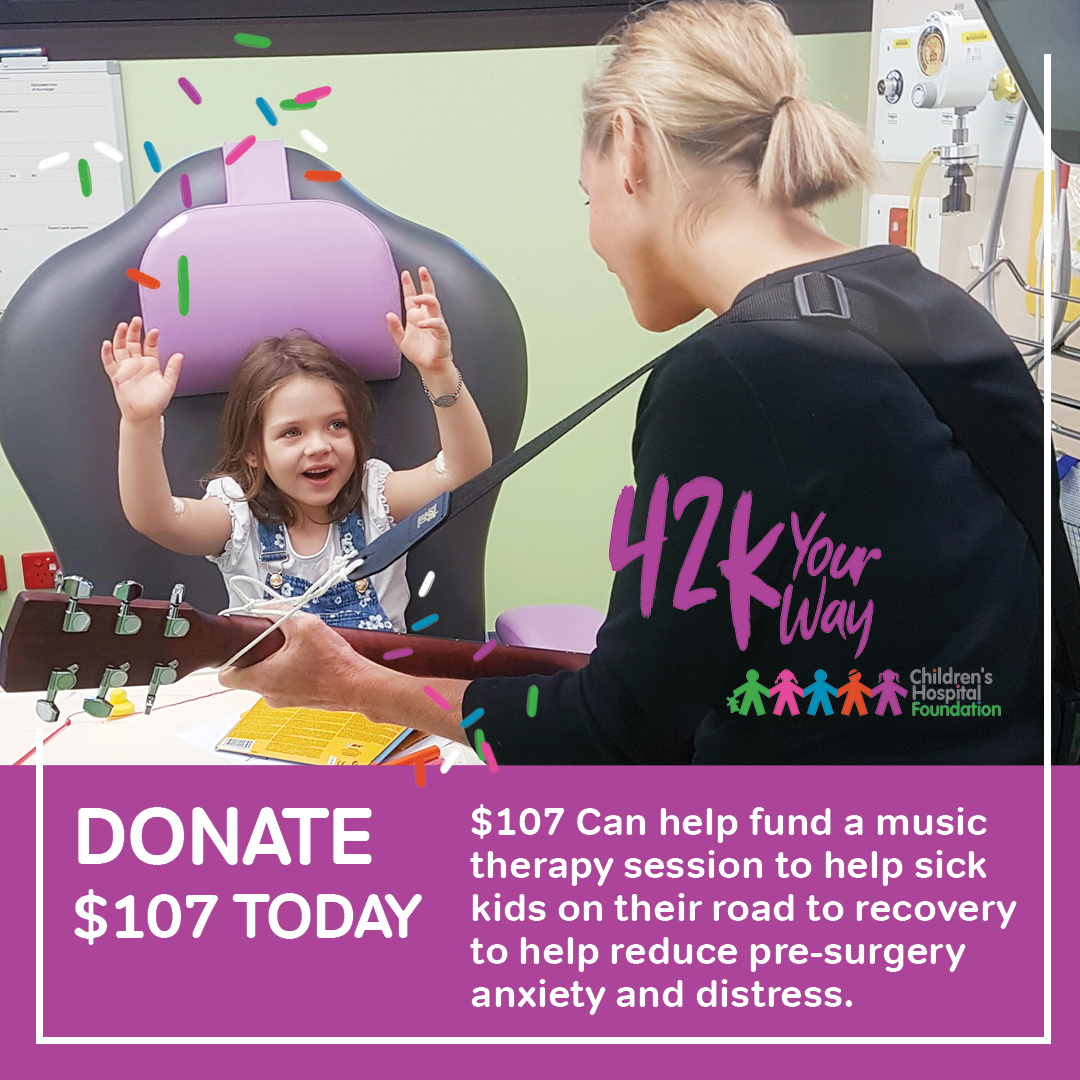 Donate $107 to fund Music Therapy