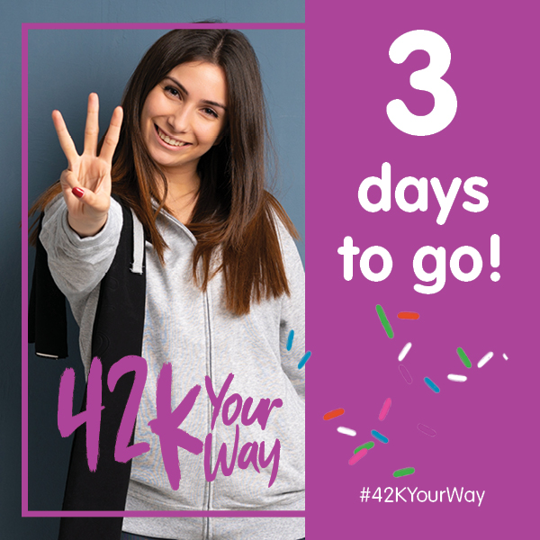 42k Your Way - 3 Days to Go