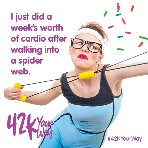 42k Your Way - weeks worth of cardio